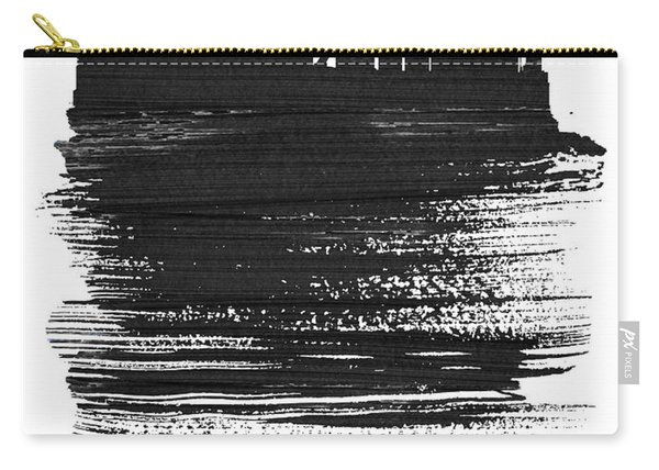 Tokyo Skyline Brush Stroke Black Carry-all Pouch