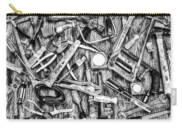Tools Grayscale Carry-all Pouch