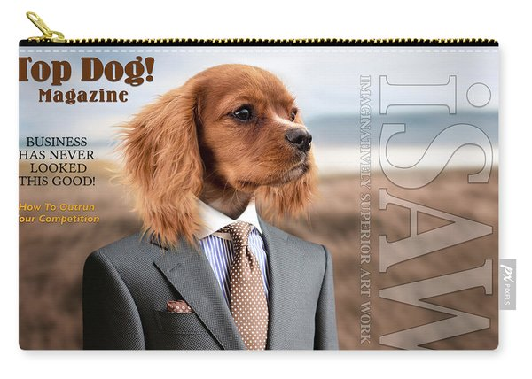 Carry-all Pouch featuring the digital art Top Dog Magazine by ISAW Company