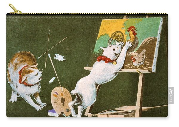 Top Quality Art - Canvas And Cat Carry-all Pouch