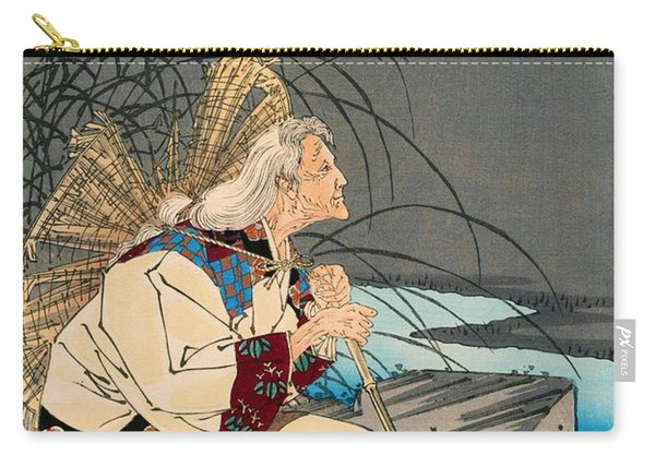 Top Quality Art - Pagoda And Moon Carry-all Pouch