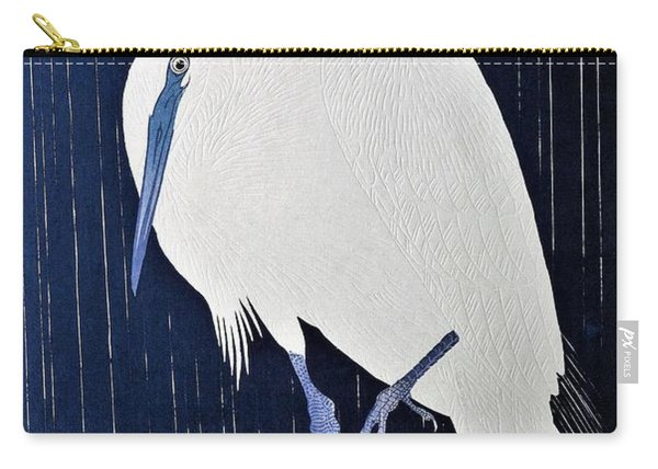Top Quality Art - Rains White Egret Carry-all Pouch