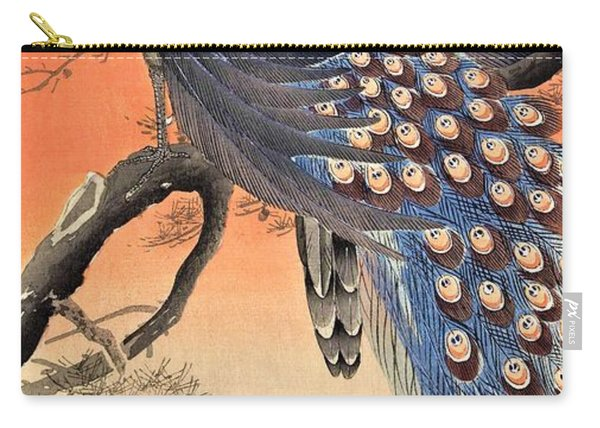 Top Quality Art - Two Peacock Carry-all Pouch