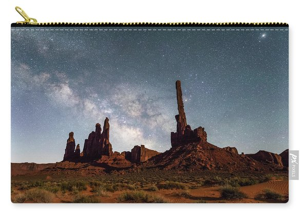 Totem Pole, Yei Bi Che And Milky Way Carry-all Pouch