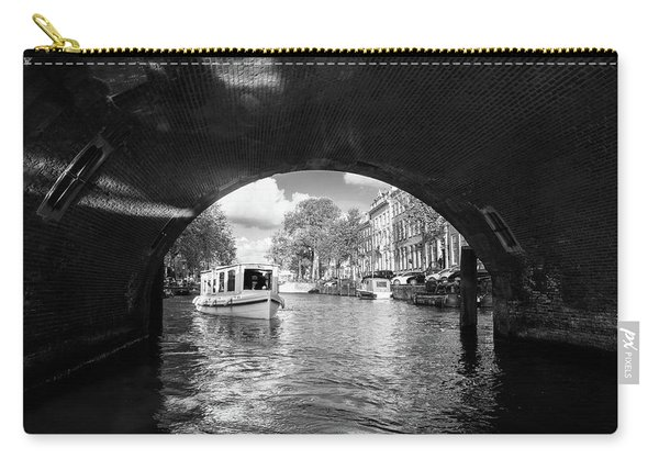 Tourboat On Amsterdam Canal Carry-all Pouch