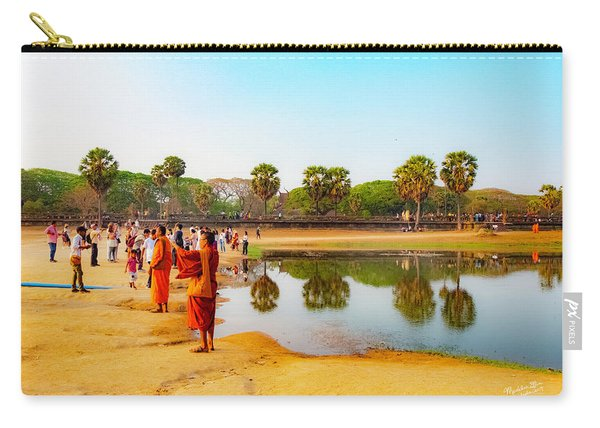 Tourists At Angkor Wat - Siem Reap, Cambodia Carry-all Pouch