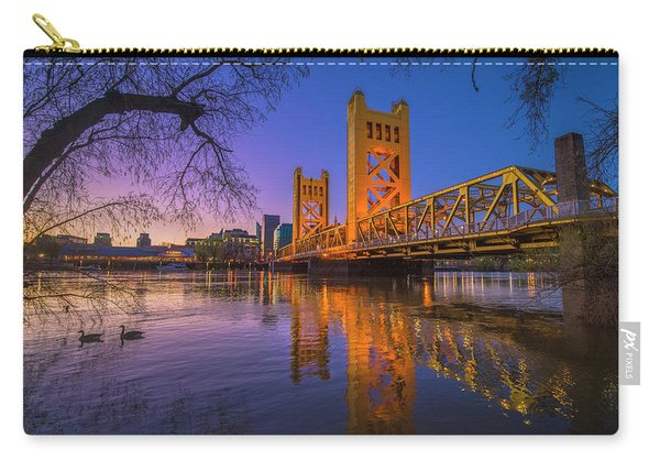 Tower Bridge At Sunrise - 4 Carry-all Pouch