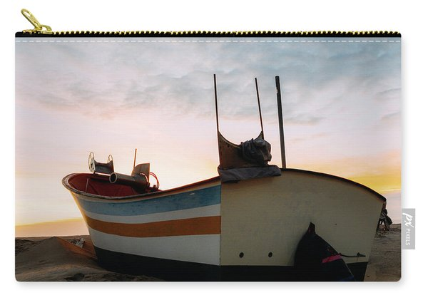 Traditional Wooden Fishing Boat Carry-all Pouch