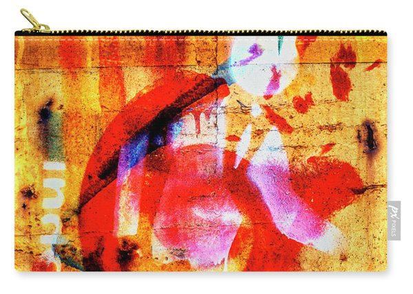 Train Art In Yellow And Red Carry-all Pouch