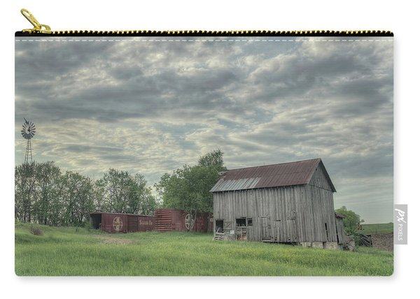 Train Cars And A Barn Carry-all Pouch