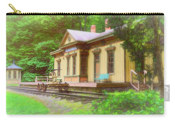 Train Depot With Hand Car Carry-all Pouch