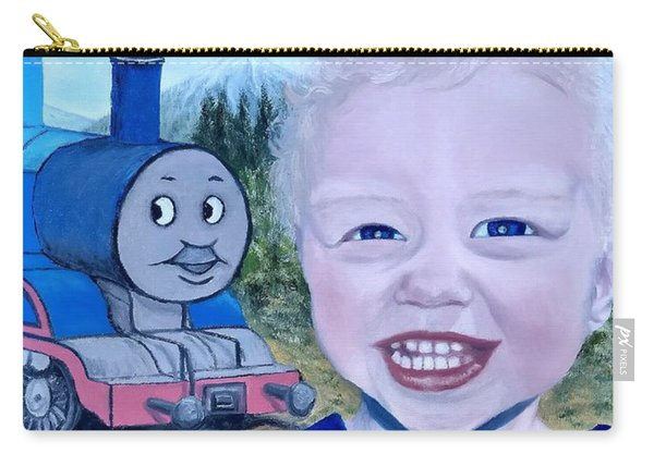 Carry-all Pouch featuring the painting Train by Kevin Daly