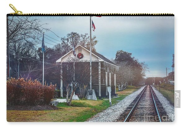 Train Tracks To Old Town Carry-all Pouch