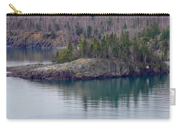 Tranquility In Silver Bay Carry-all Pouch