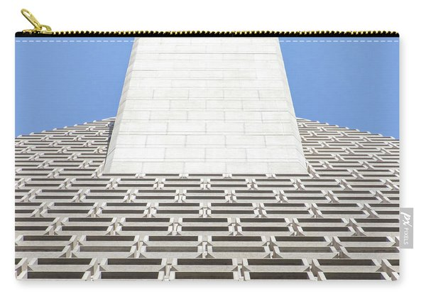 Transamerica Pyramid In San Francisco Abstract Geometry Details R730 Sq Carry-all Pouch