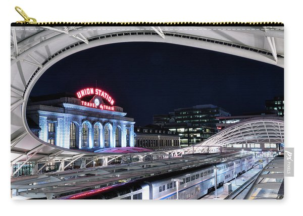 Travel By Train - Union Station Denver #2 Carry-all Pouch
