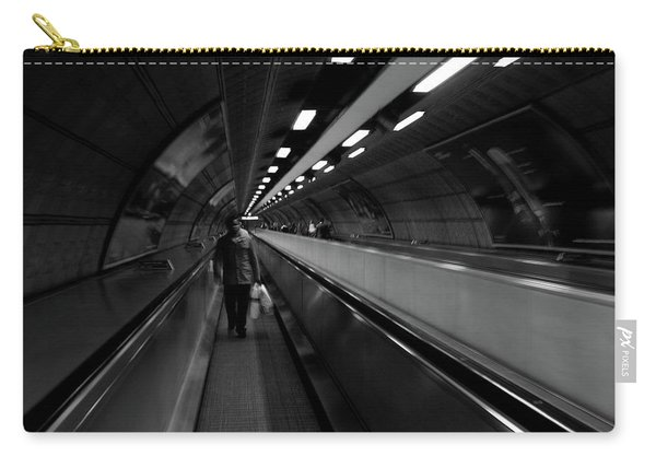 Carry-all Pouch featuring the photograph Travelator  by Edward Lee