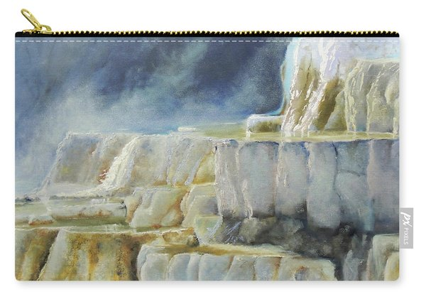 Travertine Terraces - Mammoth Hot Springs, Yellowstone National Park Carry-all Pouch