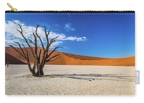 Tree And Shadow In Deadvlei, Namibia Carry-all Pouch