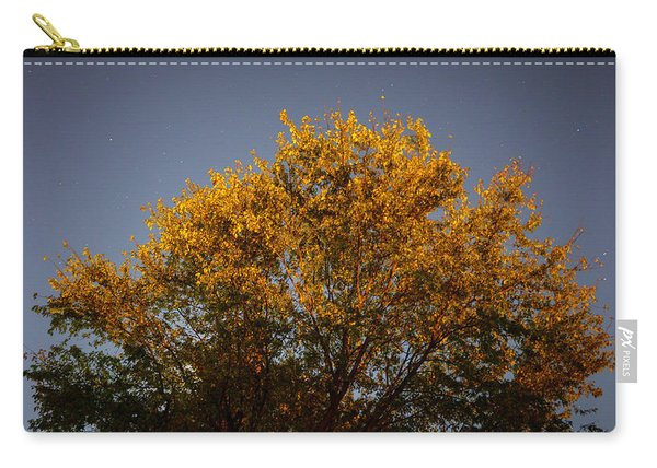 Tree And Stars Wide Carry-all Pouch
