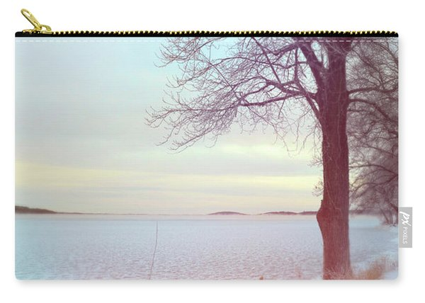 Tree By An Icy Lake Carry-all Pouch