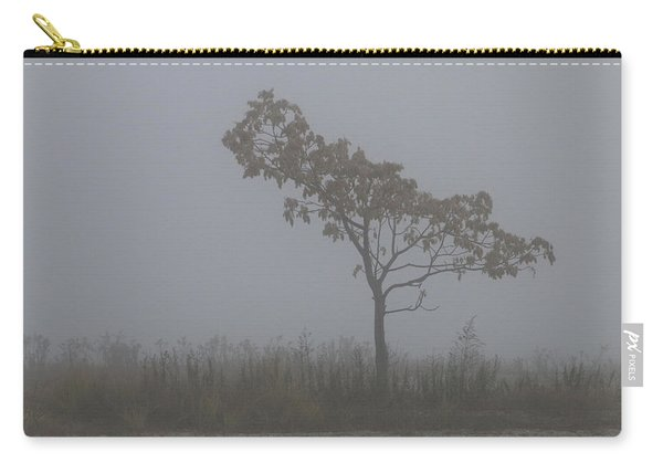 Tree In Fog Carry-all Pouch