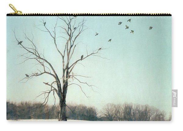 Tree In Winter Field Carry-all Pouch