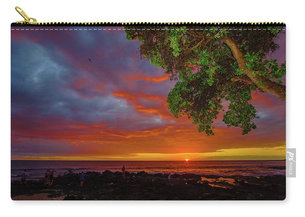 Tree  Sea And Sun Carry-all Pouch