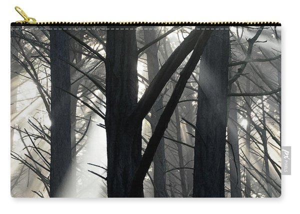 Trees And Fog Carry-all Pouch