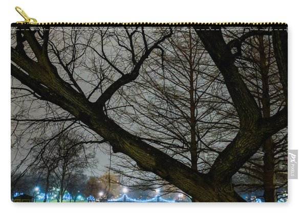 Trees And Lights Carry-all Pouch