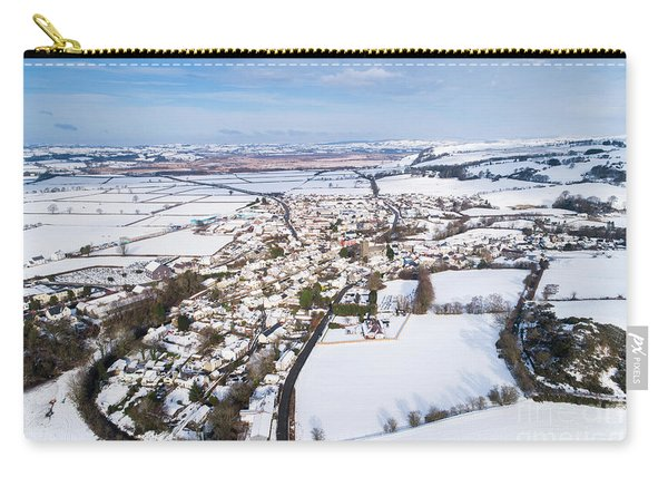 Tregaron Village, Mid Wales, In The Snow Carry-all Pouch