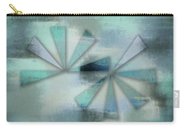 Triangles On Blue Grey Backdrop Carry-all Pouch