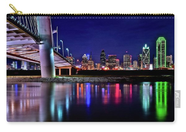 Trinity River Night View Of Dallas Carry-all Pouch