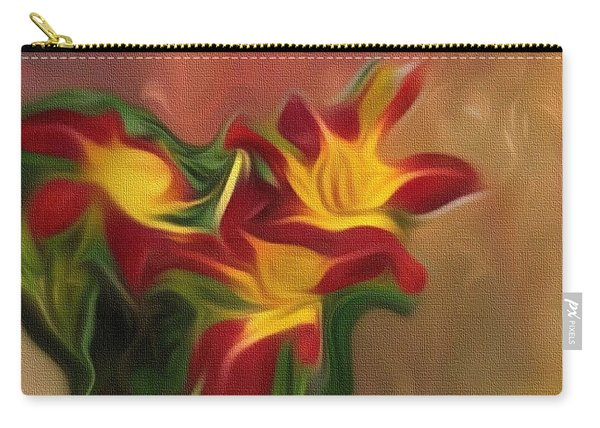 Trio Of Day Lilies Carry-all Pouch