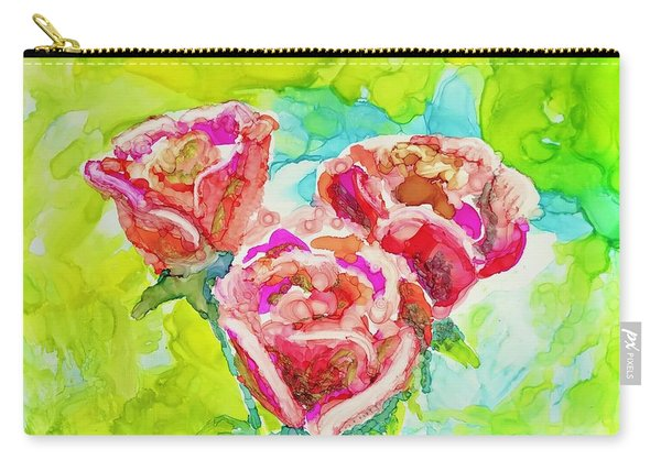 Trio Of Roses Carry-all Pouch