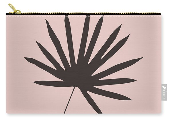 Tropical Blush Pink Leaf II Carry-all Pouch