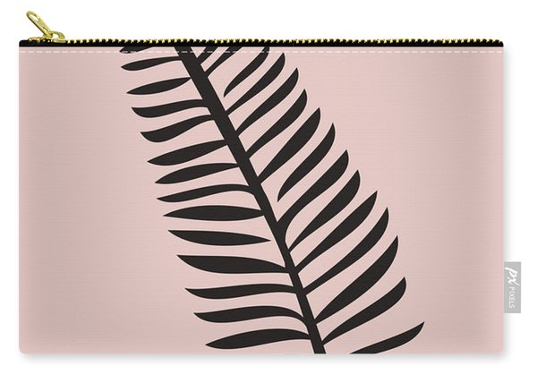 Tropical Blush Pink Leaf  Carry-all Pouch