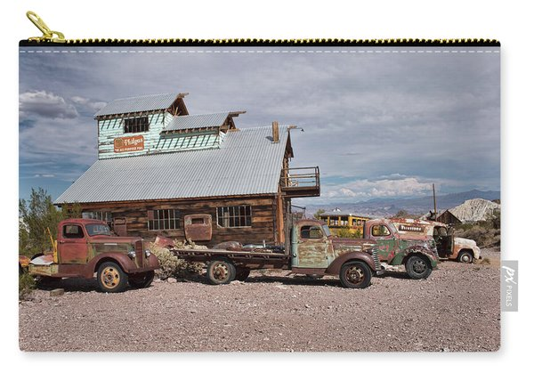 Trucks Lined Up In Nelson Carry-all Pouch