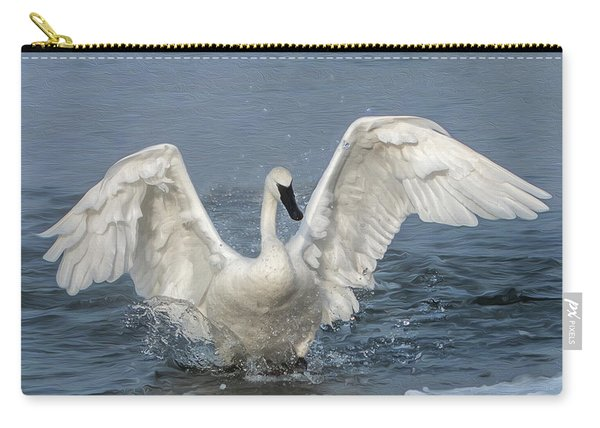 Trumpeter Swan Splash Carry-all Pouch