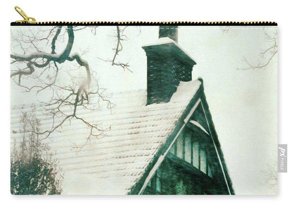 Tudor House In Snow Carry-all Pouch