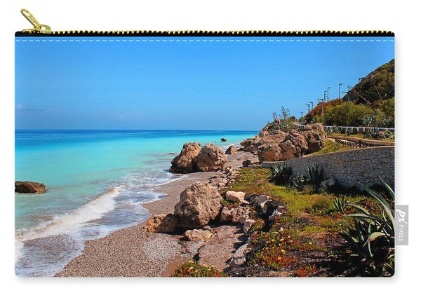 Turquoise Sea And Azure Sky Carry-all Pouch