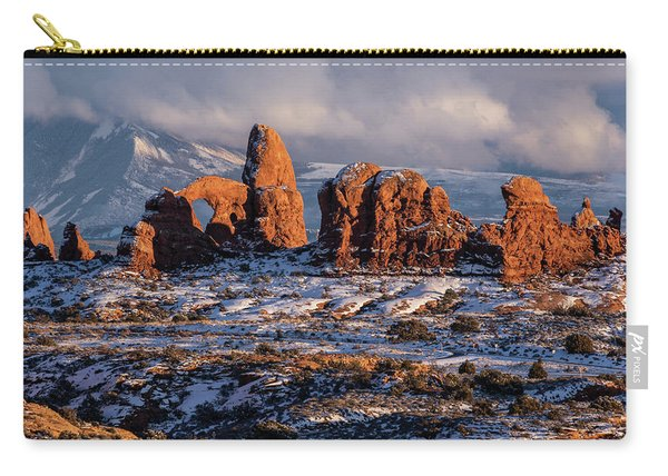 Turret Arch Winter Sunset Carry-all Pouch