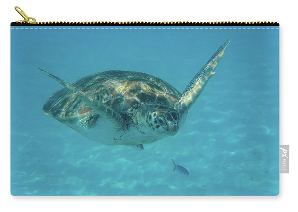 Turtle Approaching Carry-all Pouch