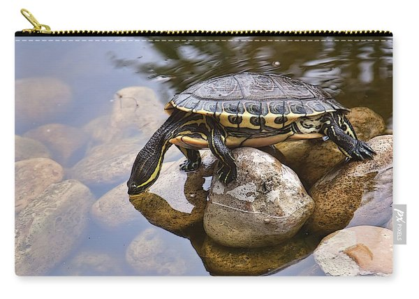 Turtle Drinking Water Carry-all Pouch