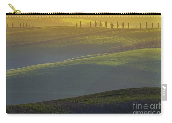 Tuscan Hilly Scenery With Cypress Trees Carry-all Pouch