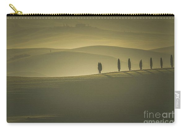 Tuscan Scenery With Cypress Trees Carry-all Pouch