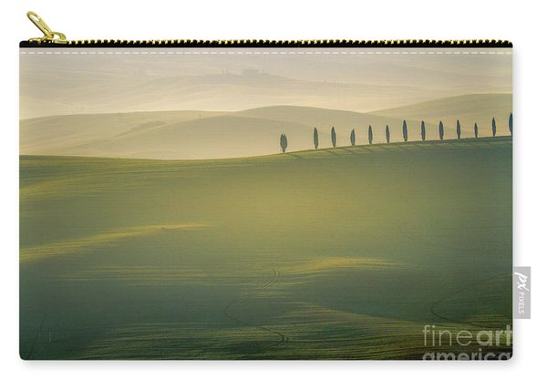 Tuscany Landscape With Cypress Trees Carry-all Pouch