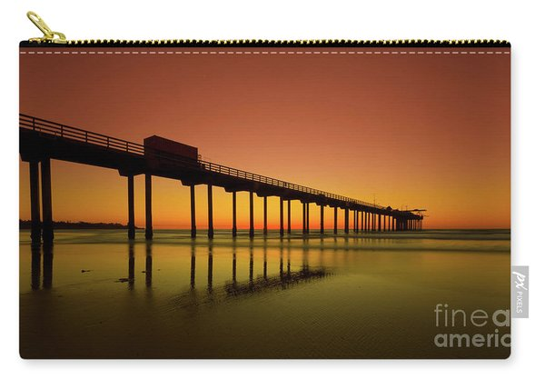 Twilight On The Beach Scripps Pier La Jolla San Diego Ca Carry-all Pouch