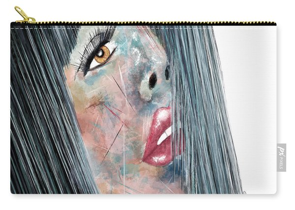 Twilight - Woman Abstract Art Carry-all Pouch