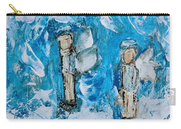Twin Boy Angels Carry-all Pouch